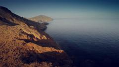 Aerial view of mountains and sea at Cabo de Gata, Spain. 4K Stock Footage