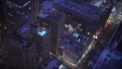 Dallas, Texas at night Stock Footage
