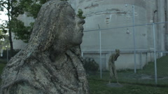 Sad looking statues Stock Footage