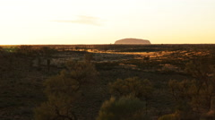 Early morning uluru zoom Stock Footage