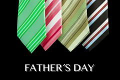 Father's day tie motive greeting card with message Stock Photos