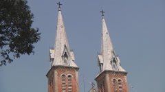 Saigon Notre-Dame Basilica in Ho Chi Minh City, Vietnam Stock Footage
