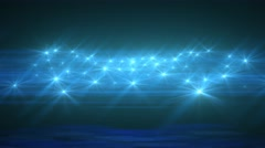 Light Blue Abstract Particle Effect Flashing Light VJ Background - stock footage