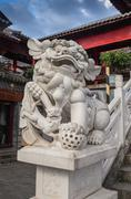 Chinese lion - tourist attraction Stock Photos