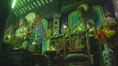 Altars at the Giac Vien Pagoda in Ho Chi Minh City, Vietnam Stock Footage