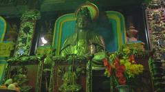 Altar at the Giac Vien Pagoda in Ho Chi Minh City, Vietnam Stock Footage