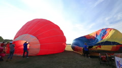 Festival of balloonists Stock Footage