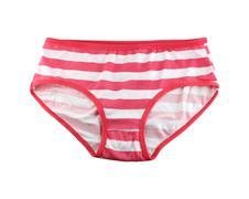 Women's underwear isolated on white. Stock Photos
