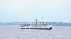 Cruise ship on Lake Muskoka Stock Footage