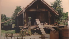 Big photo of farm at Museum in Ho Chi Minh City, Vietnam Stock Footage