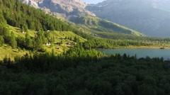 Lake Derborence, Valais, Switzerland Stock Footage