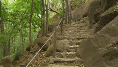 Stone steps in the jungle. Costa Rica. Stock Footage
