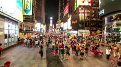 Stock Video Footage of Time lapse, Time square more people