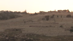 Mount of Olives Jerusalem, Israel Stock Footage