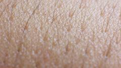 Human skin closeup macro shot, Dolly Stock Footage
