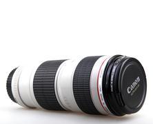 AYTOS, BULGARIA - JULY 20, 2015: Canon EF 70-200mm f/4L USM Lens. Canon Inc.  Stock Photos