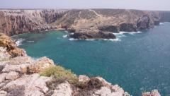 Algarve coast at Cape St. Vincent Stock Footage