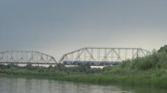 River, railway bridge Stock Footage