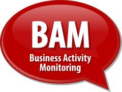 BAM acronym definition speech bubble illustration - stock illustration