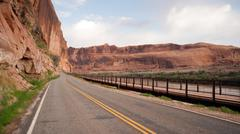 Stock Photo of Utah Outback Highway 128 Colorado River Bike Path