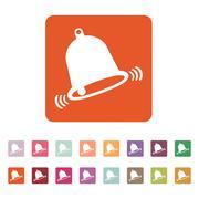 The bell icon. Alert symbol. Flat Stock Illustration