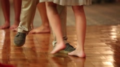 Couples dance at a wedding reception Stock Footage