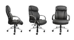 Business chair isolated on plain background - stock photo
