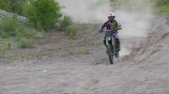 Awesome mx no hander with slo mo Stock Footage