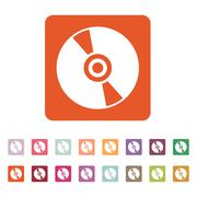 The cd icon. Compact disk symbol. Flat Stock Illustration