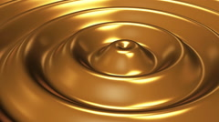Animation of wave in liquid gold. Rippled surface of golden metal. Stock Footage