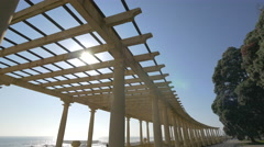 The beautiful Pergola of Foz, Porto Stock Footage
