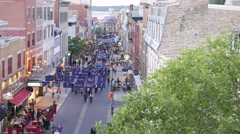 4K Quebec City Old Town Touristic Street Stock Footage