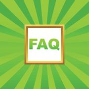 Stock Illustration of FAQ picture icon