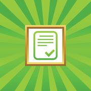 Stock Illustration of Approved document picture icon