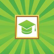 Stock Illustration of Graduation picture icon