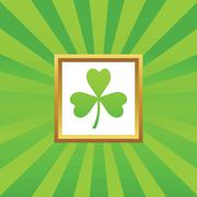Clover picture icon Stock Illustration