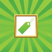 String tag picture icon - stock illustration