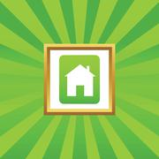 House sign picture icon - stock illustration