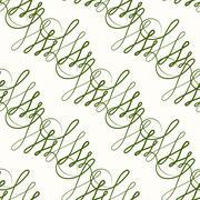 Vector seamless pattern of elegant flourishes - stock illustration
