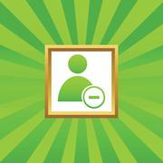Remove user picture icon - stock illustration