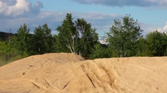 Sick motocross nothing jump trick Stock Footage
