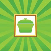 Pot picture icon Stock Illustration