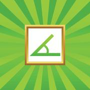 Angle picture icon Stock Illustration