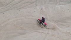 Dirtbike falls over Stock Footage