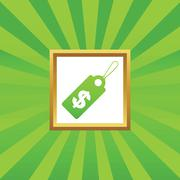 Dollar price picture icon Stock Illustration