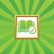 Select book picture icon - stock illustration