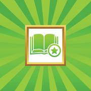 Favorite book picture icon Stock Illustration