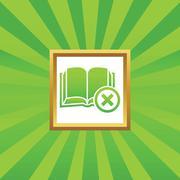 Remove book picture icon Stock Illustration