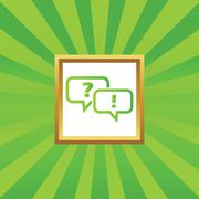 Question answer picture icon Stock Illustration
