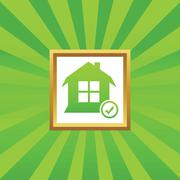 Select house picture icon - stock illustration